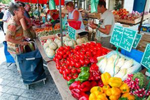 Stand sur un marché
