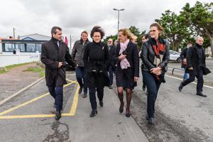 visite du site par les élus