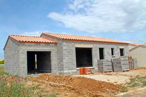 chantier de maison en construction