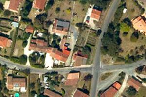 vue aérienne d'un quartiers d'habitations