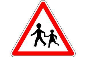 panneau sortie d'école